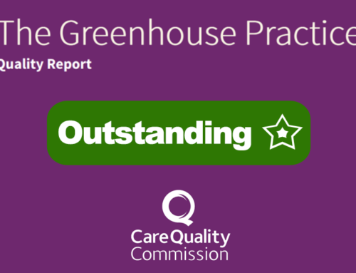 The Greenhouse Surgery rated Outstanding by Care Quality Commission