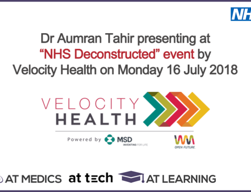 Dr Aumran Tahir presenting at Velocity Health on 16 July 2018
